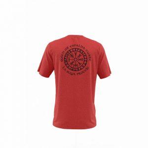 Camiseta Hombre Valknut Rojo Jaspeado