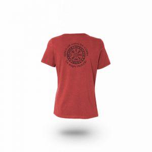 Camiseta Mujer Valknut Rojo Jaspeado
