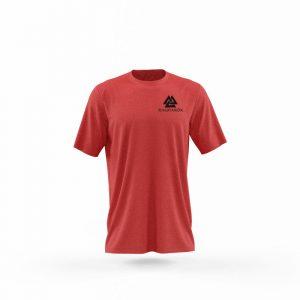 camiseta quien cubre mi espalda rojo frente