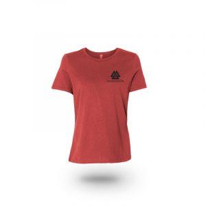 camiseta mujer quien cubre mi espalda rojo frente