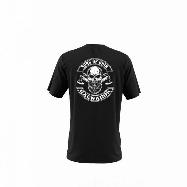 camiseta sons of ragnarok negra trasera