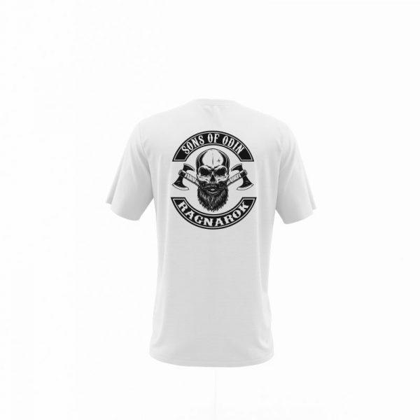 camiseta sons of ragnarok blanca trasera
