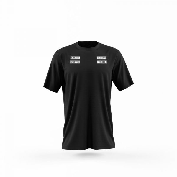 camiseta sons of ragnarok negra frente