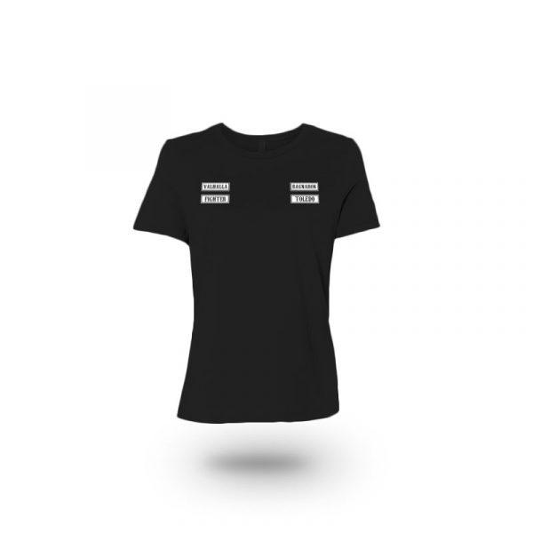 camiseta mujer sons of ragnarok negra frente