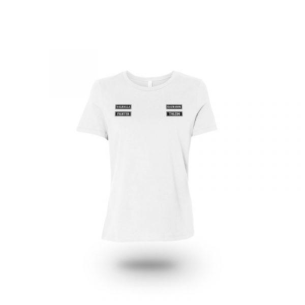 camiseta mujer sons of ragnarok blanca frente