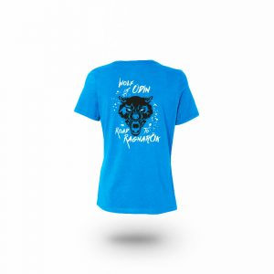 Camiseta Mujer Wolf Of Odin Azul