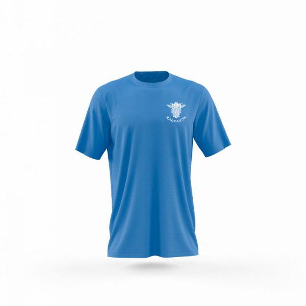 camiseta hombre wolf of odin azul frente