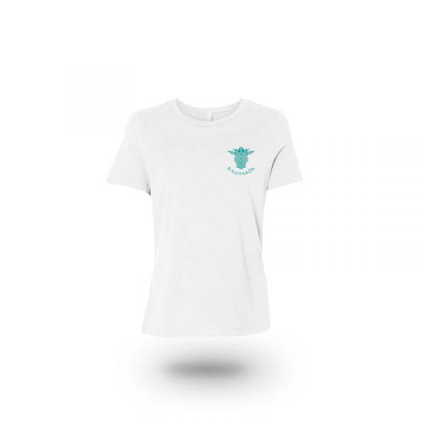 camiseta mujer wolf of odin blanca frente