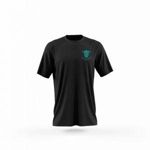 camiseta hombre wolf of odin negro frente