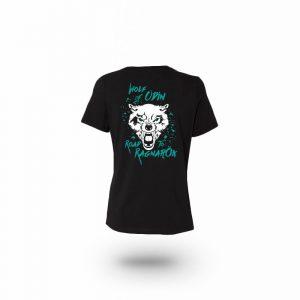 Camiseta Mujer Wolf Of Odin Negra