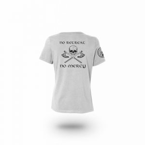 Camiseta Mujer No Mercy Gris
