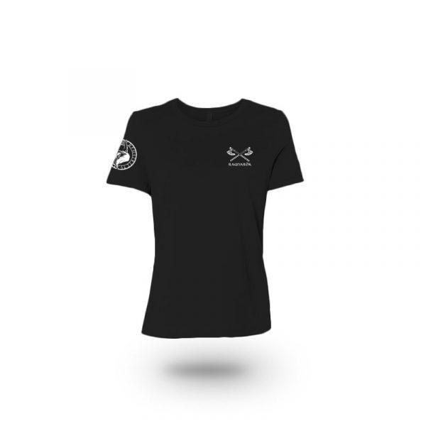 camiseta mujer no mercy negra frente