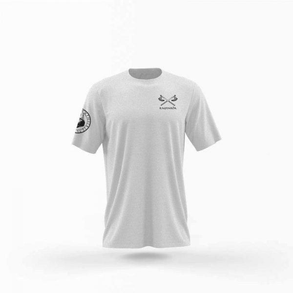 camiseta hombre no mercy gris frente