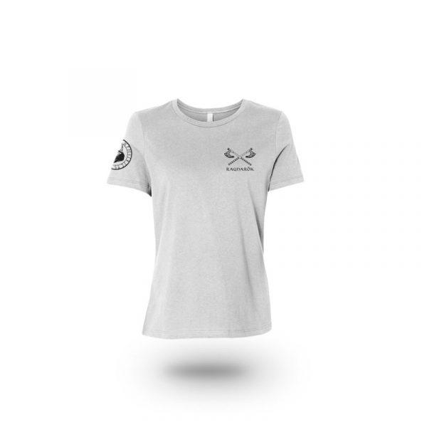 camiseta mujer no mercy gris frente