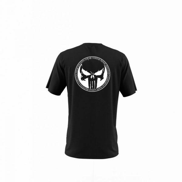 camiseta hombre juramento viking negra trasera