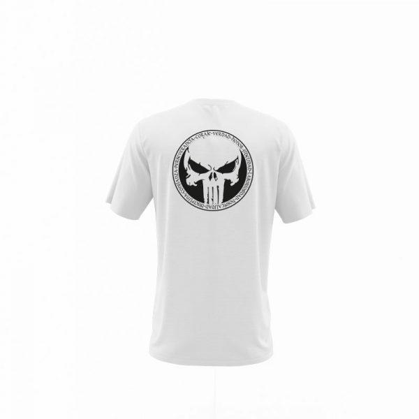 camiseta punisher blanca trasera