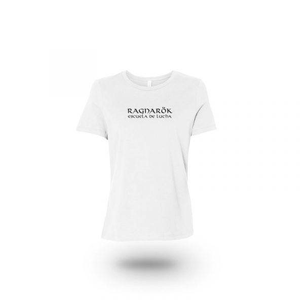 camiseta mujer punisher blanca frente