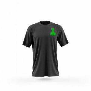 Camiseta hombre Mjolnir negra frente