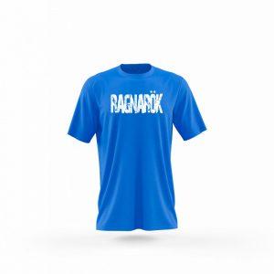 Camiseta hombre Guantillas azul frente