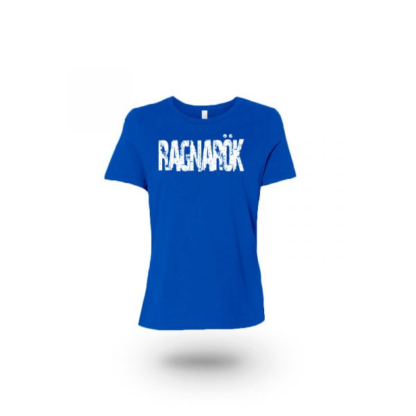 Camiseta mujer Guantillas azul frente